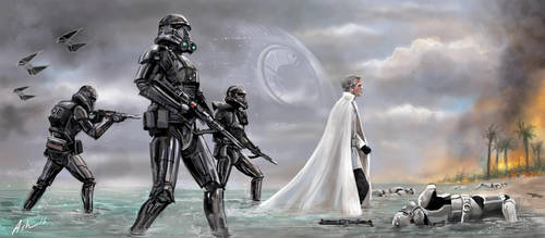 Star Wars Rouge One Director Krennic Arrives by AshleyClapperton
