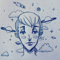 Spacey Sketching by loly-lou