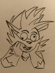 IDW Sonic: silly face Rough by JulianIvoRobotnik