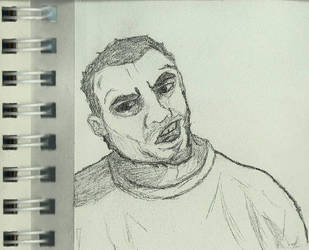 Self Portrait sketch by slayslig