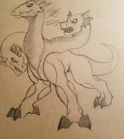 Wizard101 Hydra Drawing by Cookiedough-Gecko