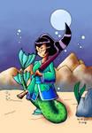 Mermaid Strolling by KWLange