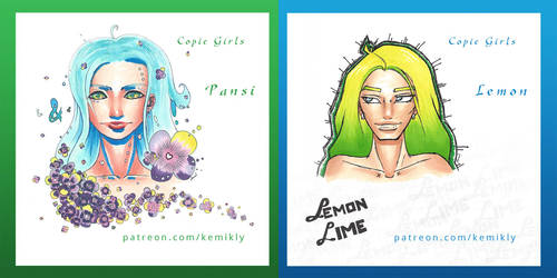 June Series: Copic Girls! by KemikLy