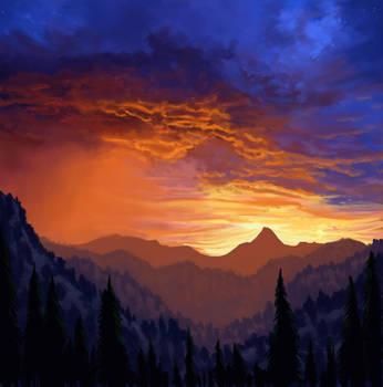 Sunset Storm by antonio-panderas