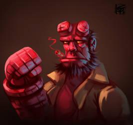 Hellboy by antonio-panderas