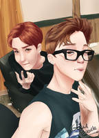 Jimin and Jhope by CloudDoodle