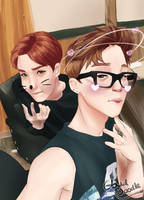 Jimin and Jhope: Filters by CloudDoodle