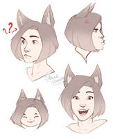 Random Kassy Sketches by CloudDoodle