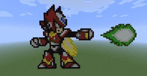 Zero from Megaman X in Minecraft by Nightwing03