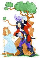 Wendy meets Hook by JonBeanHastings