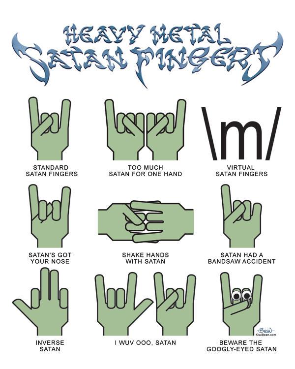 Heavy Metal Satan Fingers by JonBeanHastings