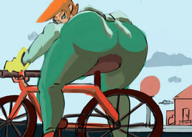 Dexter's lab :Red bike by LawOfThe3rd