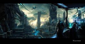 Unknown industlial city by moonworker1