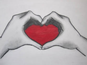 Hands Creating a Heart by xXOblivionKeyXx