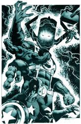avengers vs galactus by marcelomueller