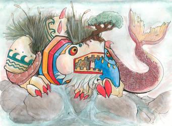 box-snout bonzai horn by Basu-zo