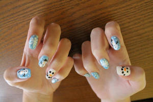 X-mas nails by lpevris