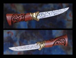 Damascus knife by Ugrik