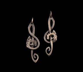 G-clef Dragon pendant by Ugrik