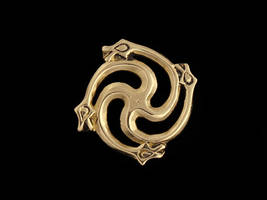 9th Century Brooch with Serpents by Ugrik