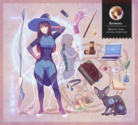 Original: Cyber Witch (Right side) by Shunkaku