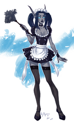 WoW: Lethargia the Maid (Collab) by Shunkaku