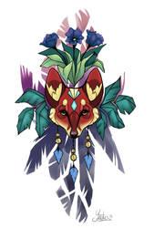 Totem fox design by Yantus