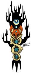 WoodenFox tattoo design by Yantus