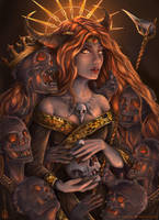 Priestess of Death by Craftea