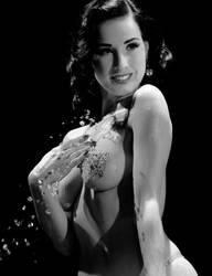 Dita Von Teese water play by DaveAyerstDavies