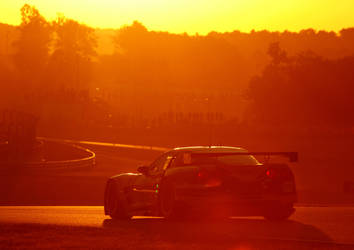 Sunrise at Le Mans 2011 by DaveAyerstDavies