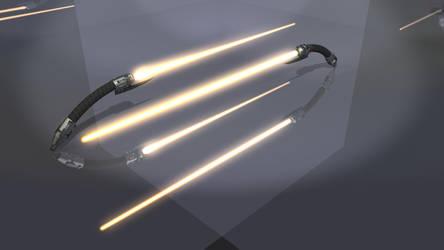 Bodaciousbaconn Lightsaber On by xgothshadowx
