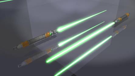 AriaV Lightsaber On by xgothshadowx