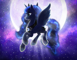 Luna  -  Worshipper of the Night by FidzFox