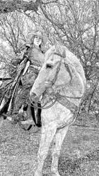 Mounted Gunslinger by mrk9sp