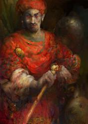 Morrowind: portrait of a rich dunmer by IgorLevchenko