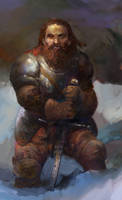 Icewind dale:Dwarf Paladin by IgorLevchenko