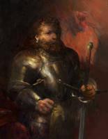 Icewind dale:gold dwarf paladin by IgorLevchenko