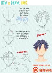 How to draw hair by Nekuromii
