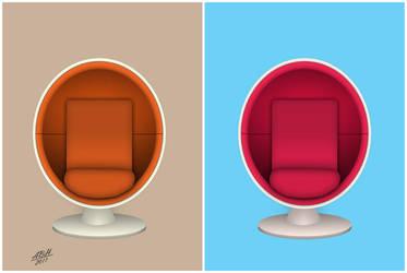 Ball Chair Pop Art by abh83