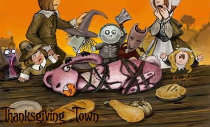 TNBC - Thanksgiving Town by Miki-