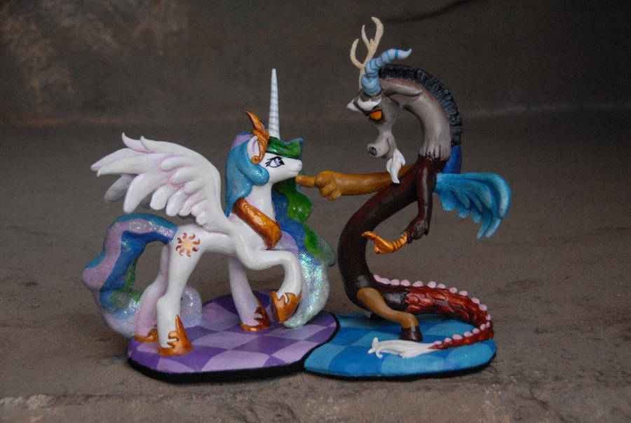 MLP - Celestia and Discord Sculpt - Update by Miki-
