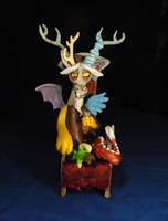MLP FIM  Discord in Throne Sculpture by Miki-