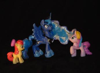 My little Pony FIM Blindbag sized Luna Sculpture by Miki-