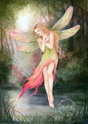 Dragonfly ll by JannaFairyArt