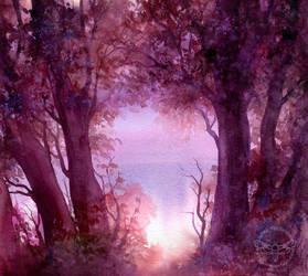 Evening Glow by JannaFairyArt