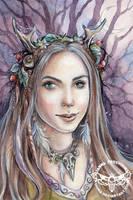 Forest Witch by JannaFairyArt