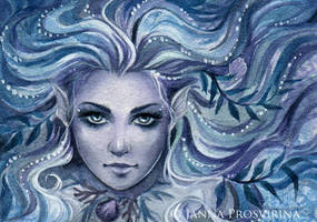 Aquamarine ACEO by JannaFairyArt