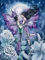 Under the Violet Moon by JannaFairyArt