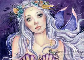 Silver Moon by JannaFairyArt